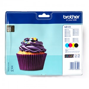 Brother LC123 CMYK Valuepack 4 tusze LC123VALBP