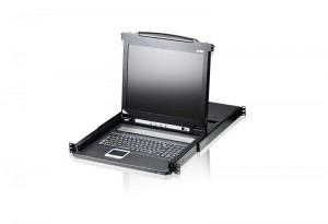 ATEN Wysuwana konsola 8-Port PS/2 17'' LCD KVM Switch CL1008M